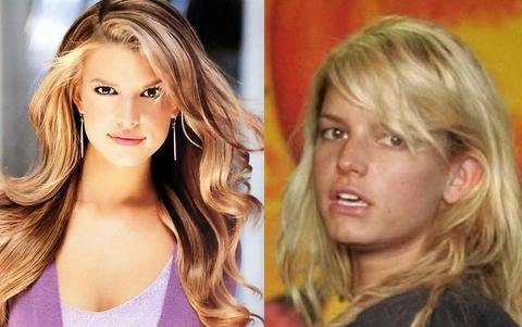 Antes y Después de Jessica Simpson