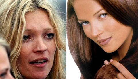 Antes y Después de Kate Moss