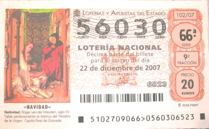 56030, el número que jugamos a la loteria