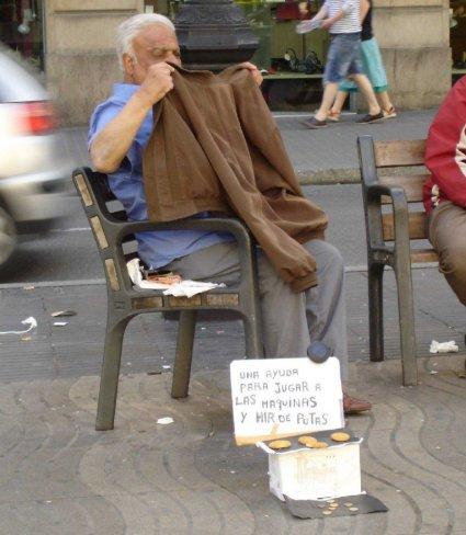 Mendigo pobre pero honrado