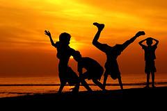 Capoeira en la playa