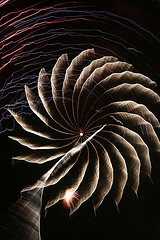 Rotación en fuegos artificiales