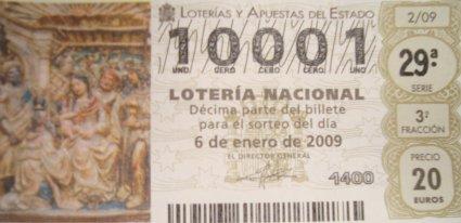 Número 10001 de la lotería del Niño
